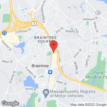 Map of Bed Bath & Beyond at 400 Grossman Drive, Braintree, MA 02184