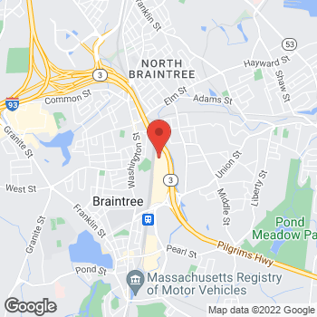 Map of Staples at 500 Grossman Drive, Braintree, MA 02184