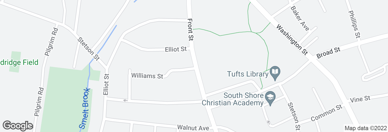 Map of Front St @ Glines Ave and surrounding area