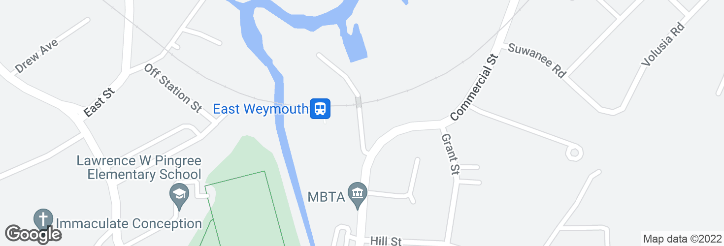 Map of East Weymouth and surrounding area