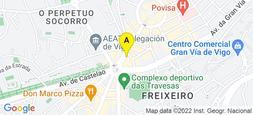 situacion en el mapa de . Direccion: c/Lopez Mora 81 2d, 36211 Vigo. Pontevedra