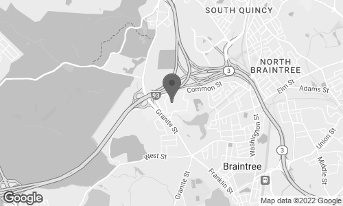 Map of 250 Granite Street in Braintree