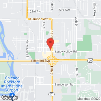 Map of Arby's at 1510 Sandy Hollow Rd, Rockford, IL 61109-2125