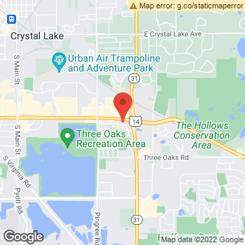 Map of Dr. Gary Sterczek, Optometrist, and Associates - Rose Plaza at 4777 Northwest Hwy., Crystal Lake, IL 60014