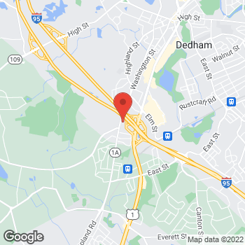 Map of Manju Subramanian, MD at 980 Washington Streetsuite 120, Dedham, MA 02026