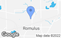 Map of Romulus, MI