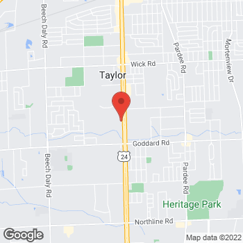 Map of Arby's at 10500 Telegraph Rd, Taylor, MI 48180