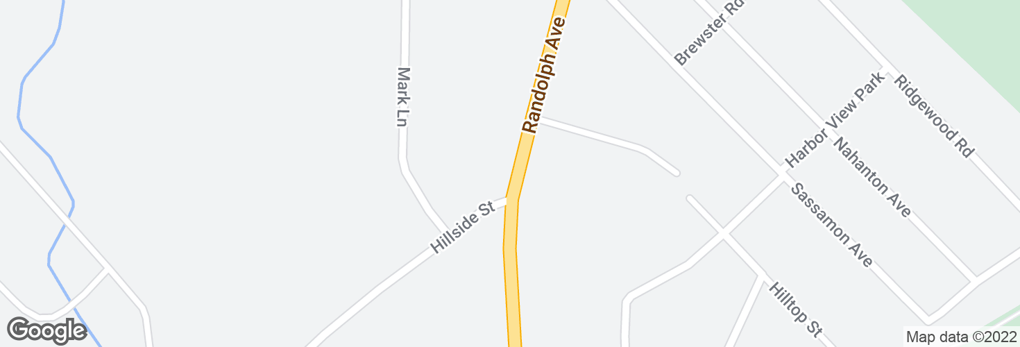 Map of Randolph Ave @ Hillside St and surrounding area