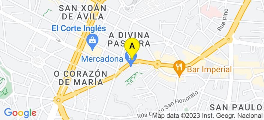 situacion en el mapa de . Direccion: C/Pizarro 47 - Oficina 3, 36204 Vigo. Pontevedra