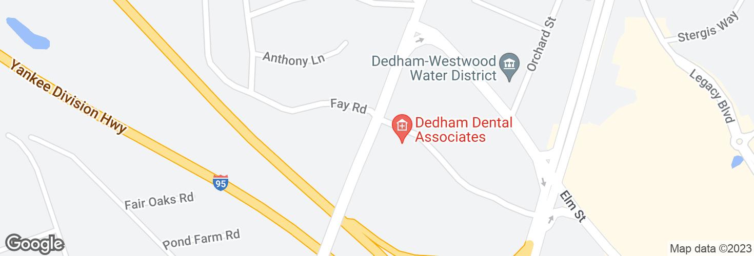 Map of Washington St @ Ariadne Rd and surrounding area