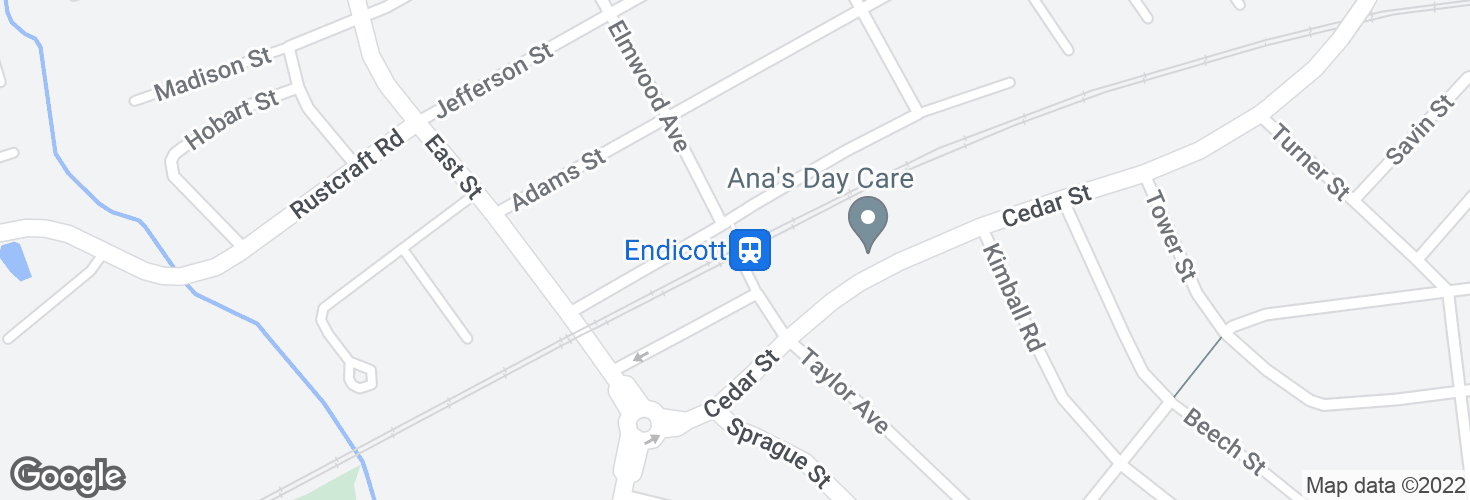 Map of Endicott and surrounding area