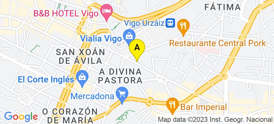 situacion en el mapa de . Direccion: Rúa Urzaiz, 73, 36204 Vigo. Pontevedra