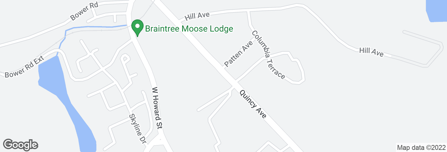 Map of Quincy Ave @ Quirk Chevrolet and surrounding area
