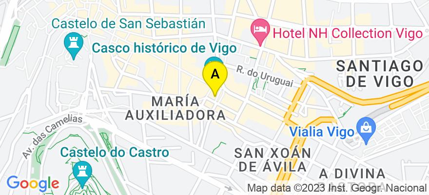 situacion en el mapa de . Direccion: Manuel Nuñez 2, 4º, 36203 Vigo. Pontevedra