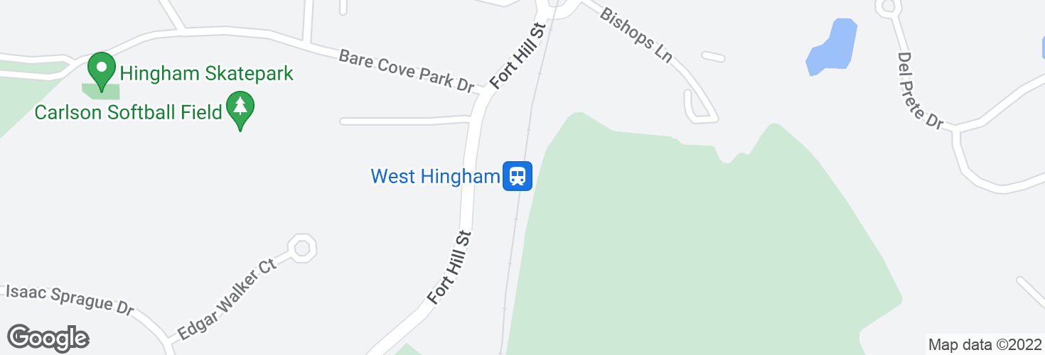 Map of West Hingham and surrounding area