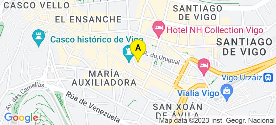 situacion en el mapa de . Direccion: Colon, 37 4º A, 36201 Vigo. Pontevedra