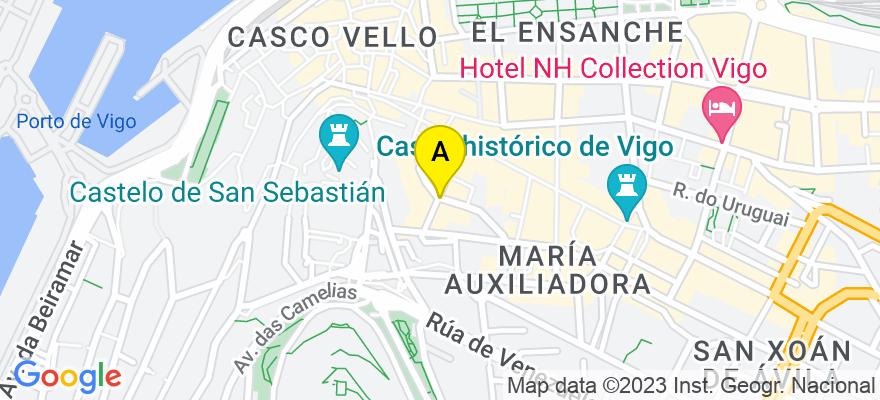 situacion en el mapa de . Direccion: Doctor Cadaval nº 7 - 3º D, 36202 Vigo. Pontevedra