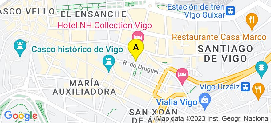 situacion en el mapa de . Direccion: República Argentina, 27 5º, 36201 Vigo. Pontevedra