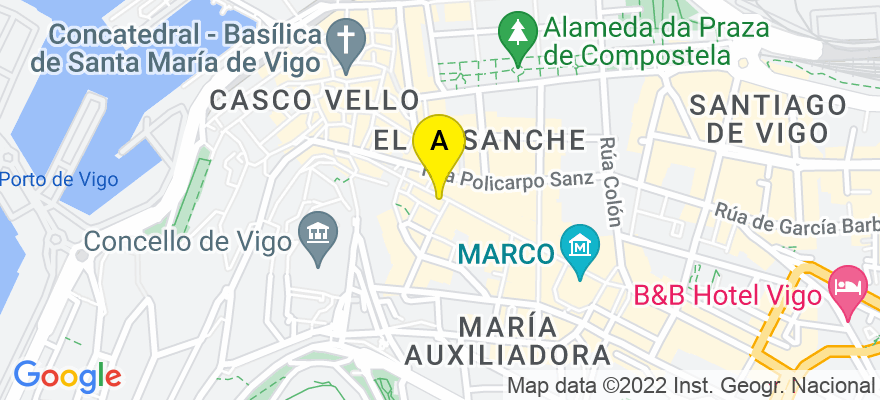 situacion en el mapa de . Direccion: Rúa do Príncipe, número 12-2º, 36202 Vigo. Pontevedra
