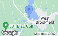 Map of West Brookfield, MA