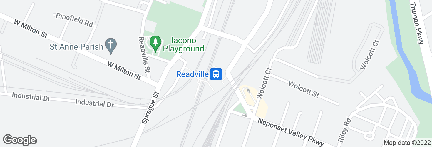 Map of Readville and surrounding area