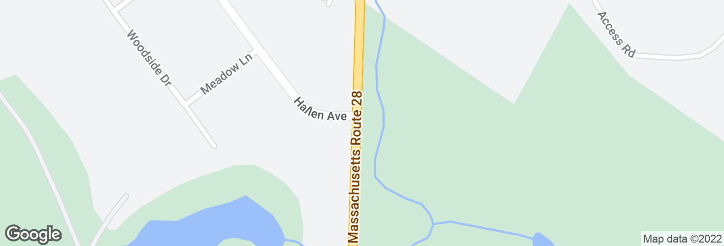 Map of Randolph Ave opp Hallen Ave and surrounding area