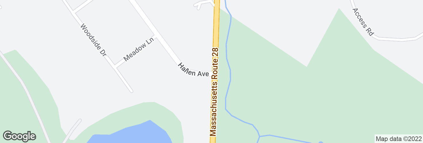 Map of Randolph Ave @ Hallen Ave and surrounding area