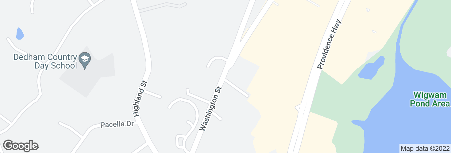 Map of Washington St @ Montague Rd and surrounding area