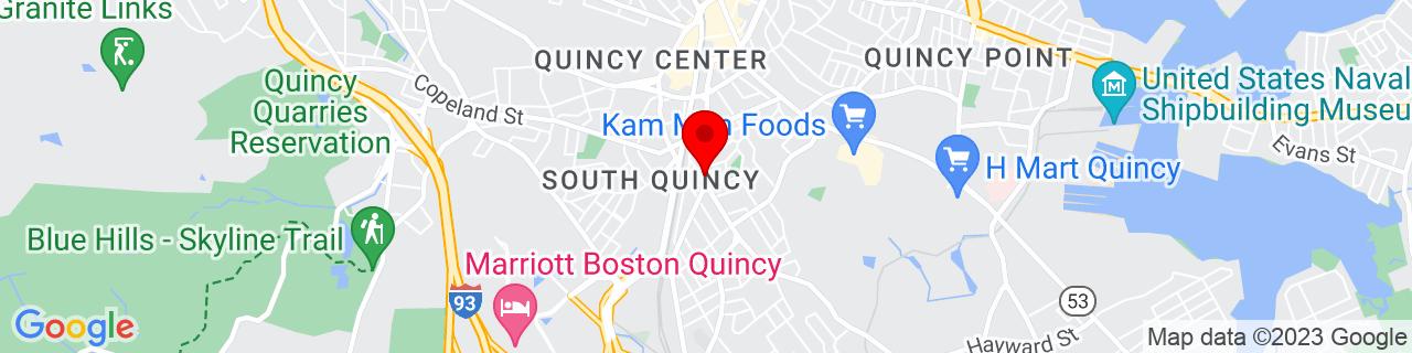 Google Map of 42.239197, -71.003517