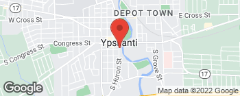 Map of 27 S Huron St in Ypsilanti
