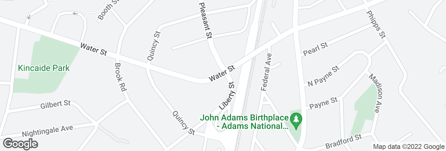 Map of Water St @ Liberty St and surrounding area