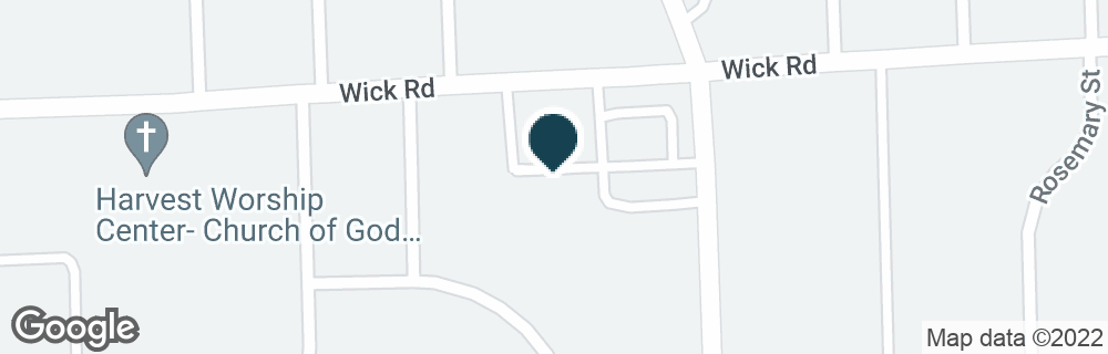 Google Map of22525 WICK RD