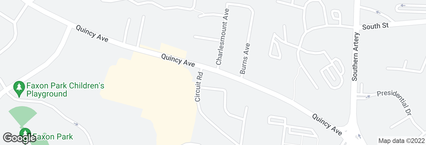Map of Quincy Ave opp Charlesmount Ave and surrounding area