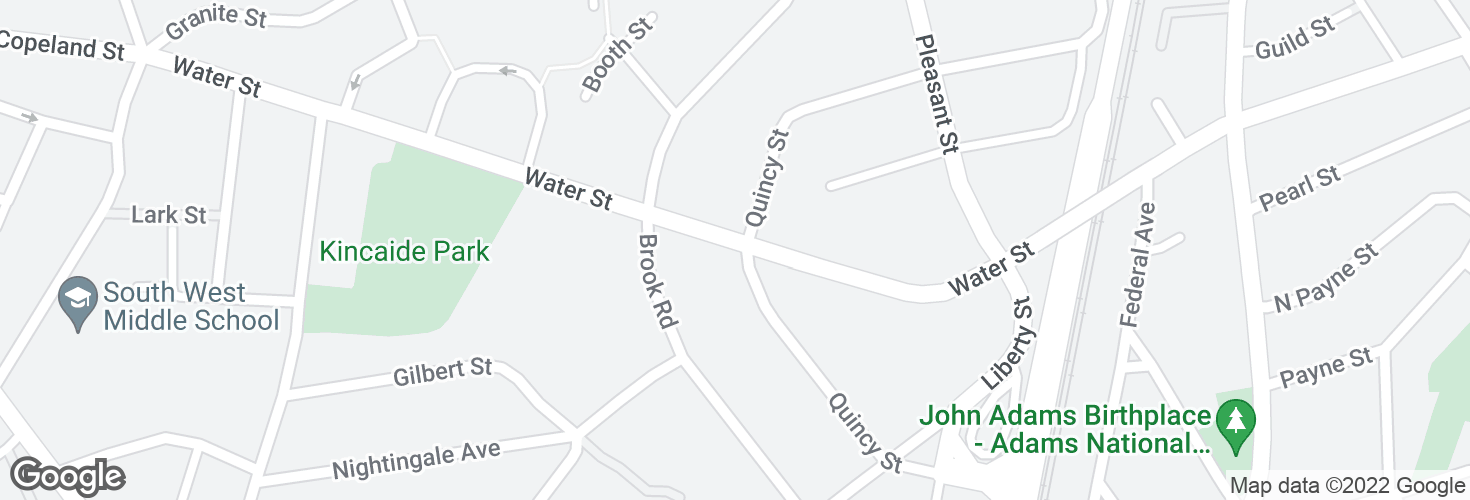 Map of Water St @ Quincy St and surrounding area