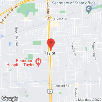 Map of Check `n Go Telegraph Road at 9125 Telegraph Road, Taylor, MI 48180