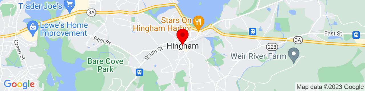 Google Map of 42.2418172, -70.889759
