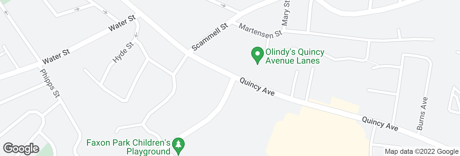 Map of Quincy Ave @ Faxon Park Rd and surrounding area