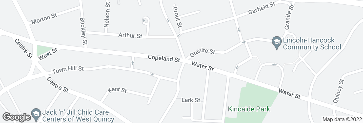 Map of Copeland St @ Granite St and surrounding area