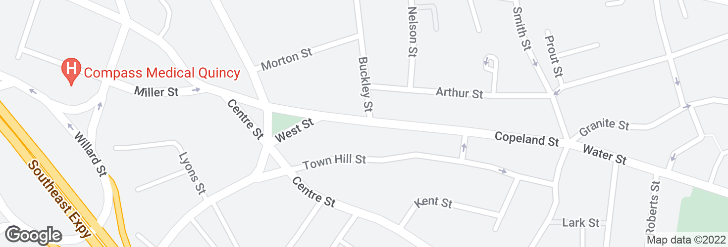 Map of Copeland St opp Buckley St and surrounding area