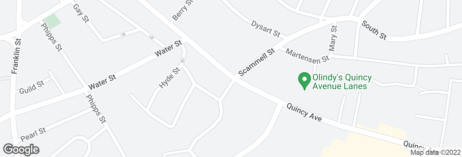 Map of Quincy Ave @ Blanchard Rd and surrounding area