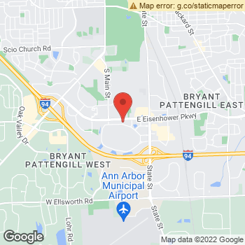 Map of Dr. Monika Dembinska, Optometrist, and Associates - Briarwood Mall at 6454 Briarwood Circle, Ann Arbor, MI 48108