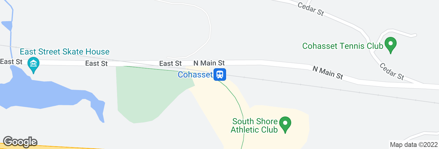 Map of Cohasset and surrounding area