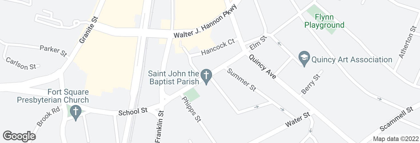 Map of School St opp Gay St and surrounding area