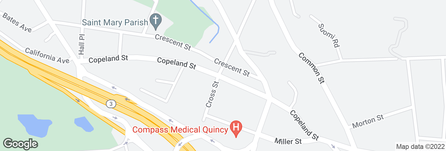 Map of Copeland St @ Cross St and surrounding area