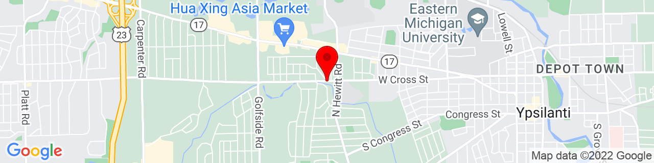 Google Map of 42.24507029999999, -83.6494242