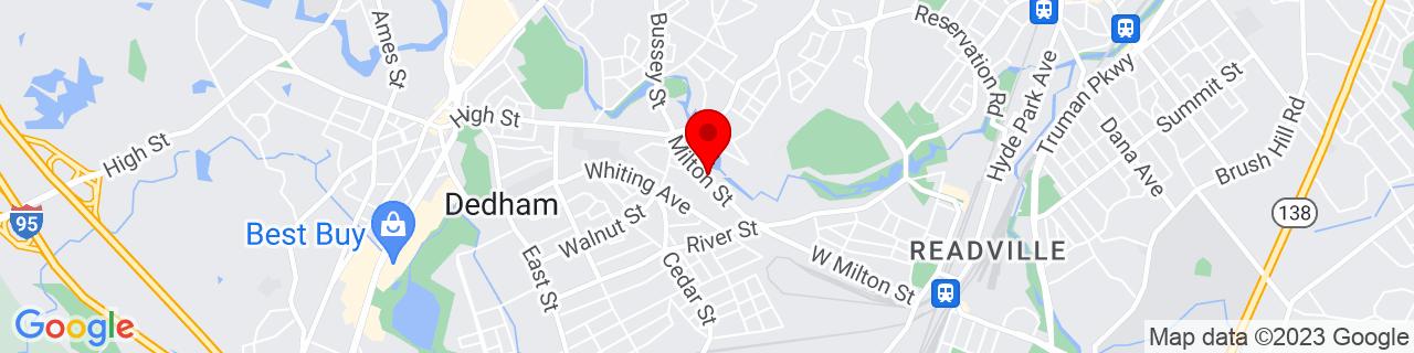 Google Map of 42.2452069, -71.1517088