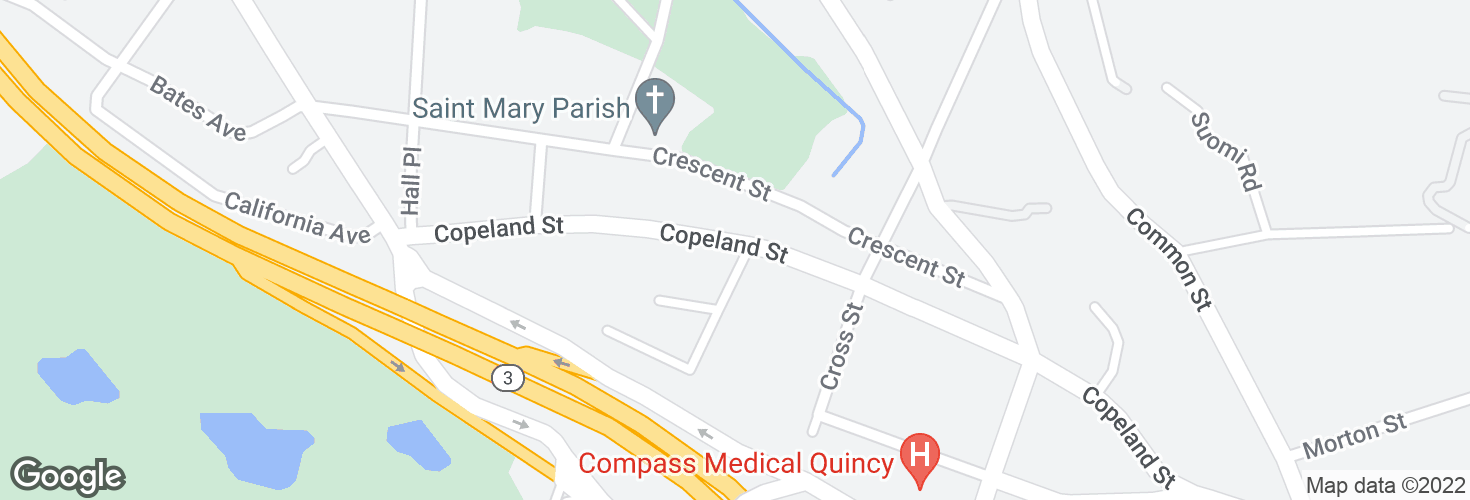 Map of Copeland St @ Furnace Ave and surrounding area