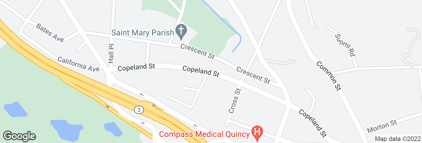 Map of Copeland St opp Furnace Ave and surrounding area