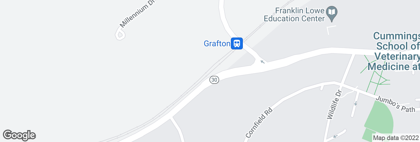 Map of Grafton and surrounding area