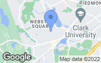 Map of Worcester, MA